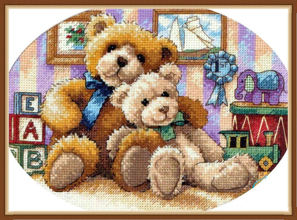92323ac38a Warm and Fuzzy macik - keresztszemes készlet 丨 Cérnalányok Kézimunka  Webáruház